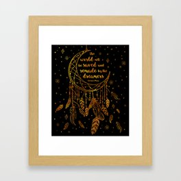 Saved and Remade - gold Framed Art Print