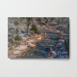 Virgin_River 4784 - Canyon_Junction, Zion_National_Park Metal Print