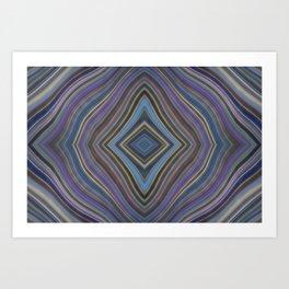 Mild Wavy Lines VIII Art Print