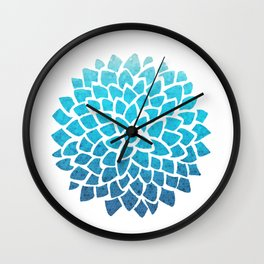 Sea Glass Dahlia Wall Clock