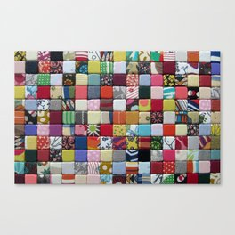 Bordage no3 - Fabric composition Canvas Print
