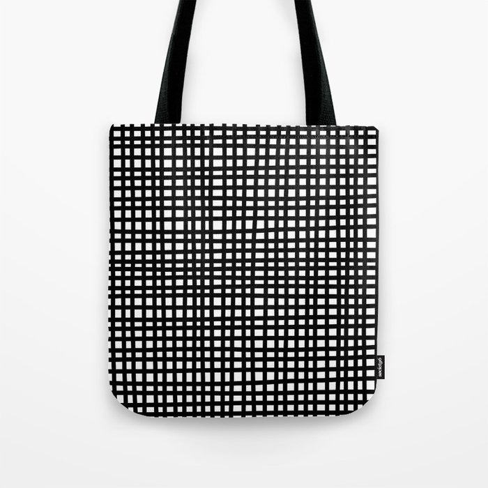 Black and White Gingham Tote Bag