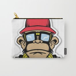 fun monkey sticker stickers new 2018 design cute funny sunglass swag thug love Carry-All Pouch