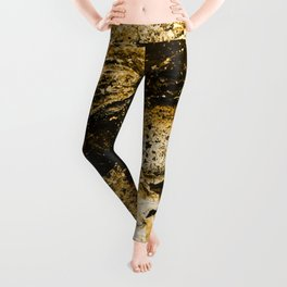 abstract gold Leggings