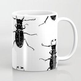 MINIMAL + MONOCHROME BEETLE PATTERN Coffee Mug