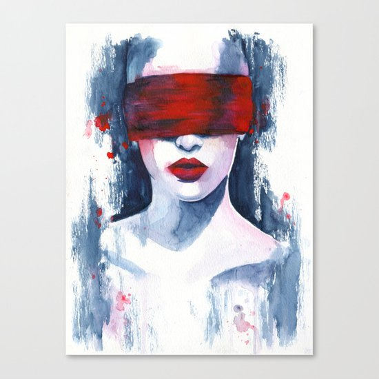 Blind love is  Canvas Print