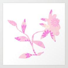 Pinky flower Art Print