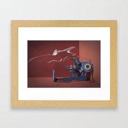 Police-Bot with Kittens Framed Art Print