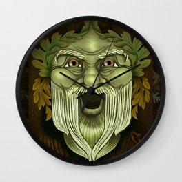 Oak King Green Man Wall Clock
