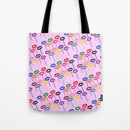Lips Pops (Multi-colored Lips on Sticks) - Rasha Stokes Tote Bag