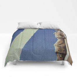 Trieste art deco Italian travel ad Comforters