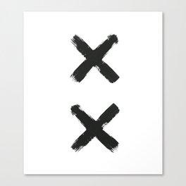 Black Cross Canvas Print