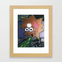  Zombie Lisa: Speak Light!  Framed Art Print