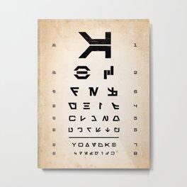Aurebesh Eye Chart Metal Print