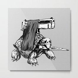 DPS TURTLE Metal Print