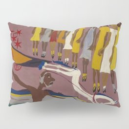 African American Masterpiece Swing Low, Sweet Chariot, by William Henry Johnson Pillow Sham