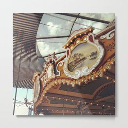 Historic New York Carousel Metal Print