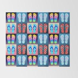 Flip Flop Pop Art Throw Blanket