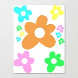 Golf flowers Canvas Print
