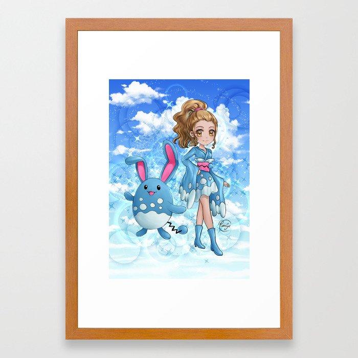 Furisode Marill Framed Art Print