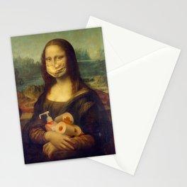 Mona Lisa mask Stationery Cards