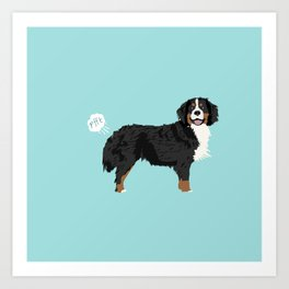 Bernese Mountain Dog dog breed funny dog fart Art Print