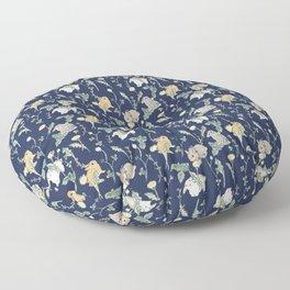 Spring Garden - navy blue Floor Pillow