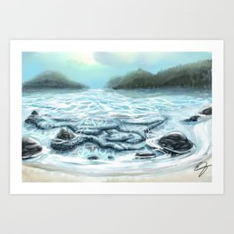 Clear Water in the Mountains Art Print
