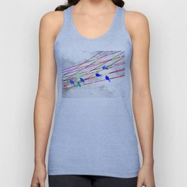 Birds on the Wire Unisex Tank Top