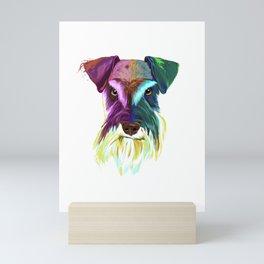 Splash Schnauzer Dog Mini Art Print