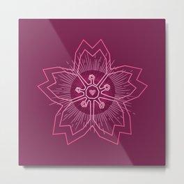 Pink Cherry Blossom Metal Print