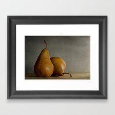 Brown Pears Framed Art Print