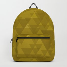 Gentle mustard triangles in the intersection and overlay. Backpack