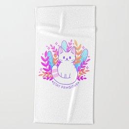 Pawsitive Cat Beach Towel