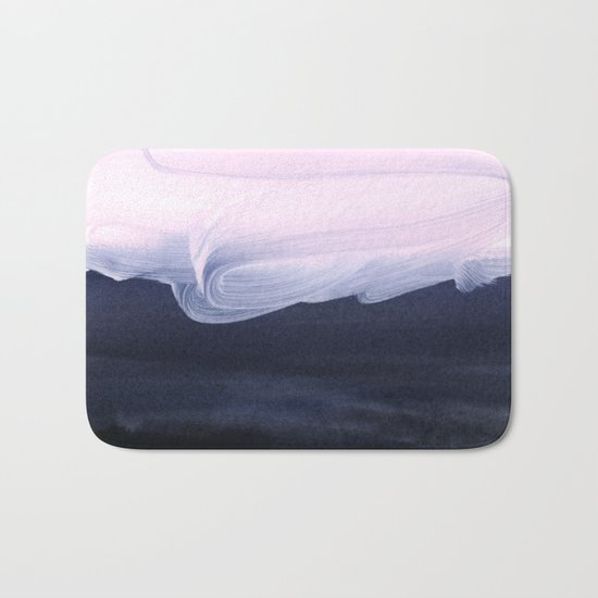 pink & blue Bath Mat