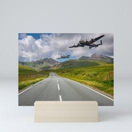 Lancaster Bomber in Snowdonia Mini Art Print