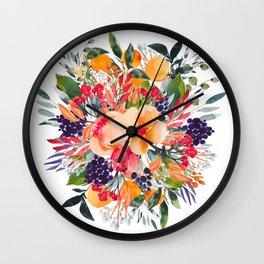 Autumn watercolor bouquet Wall Clock