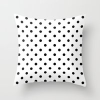 dots Throw Pillows featuring Dots by Kings in Plaid