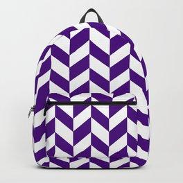 HERRINGBONE (INDIGO & WHITE) Backpack