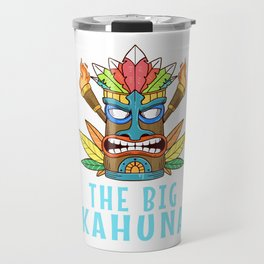Tiki Gift Design Hawaiian Island The Big Kahuna Print Travel Mug