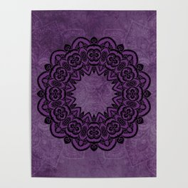 Circle in Purple Poster