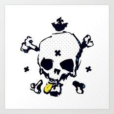 XXX Skull C Art Print