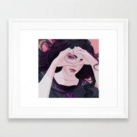 jjba Framed Art Prints featuring Yukako by Valeri