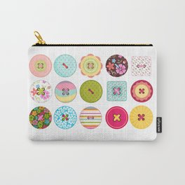Seing Buttons Carry-All Pouch