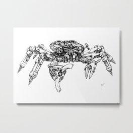 Crabatron Metal Print