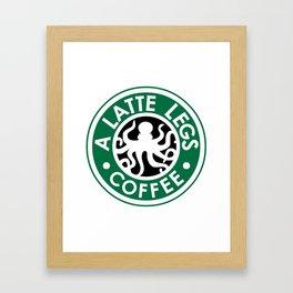 A Latte Legs :: Coffee Framed Art Print