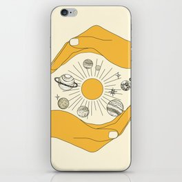 The Universe in Your Hands iPhone Skin