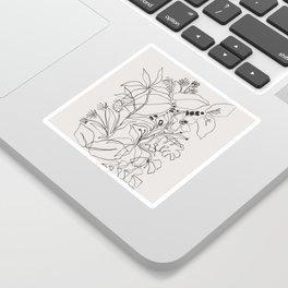 Charcoal Tropics Sticker