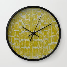 Yellow Sugarcane Wall Clock