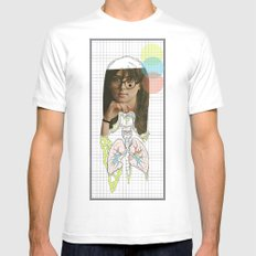 lungs Mens Fitted Tee White MEDIUM